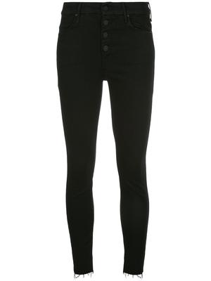 The Pixie Exposed Button Skinny Ankle Fray