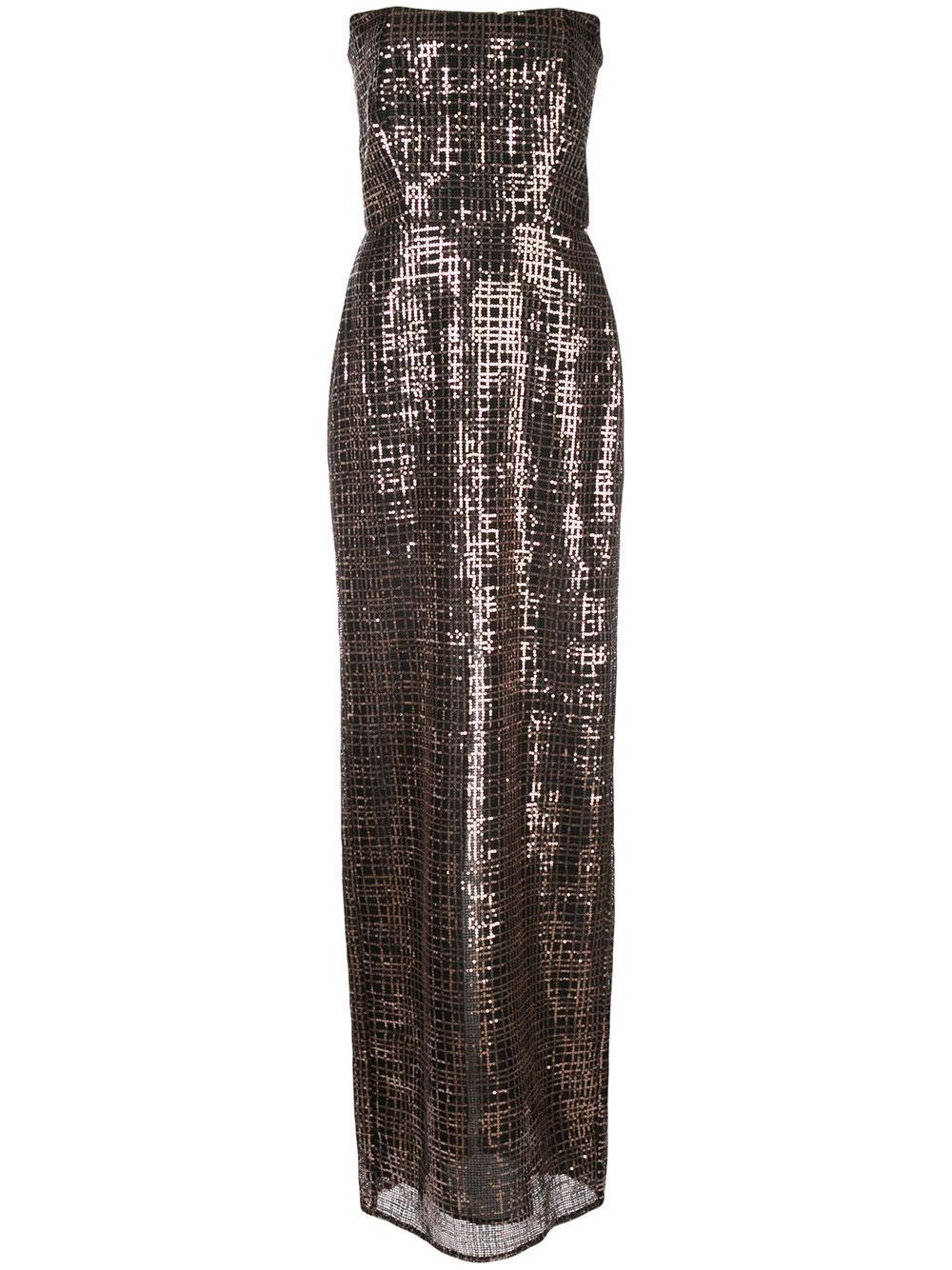 Corset Sequin Gown