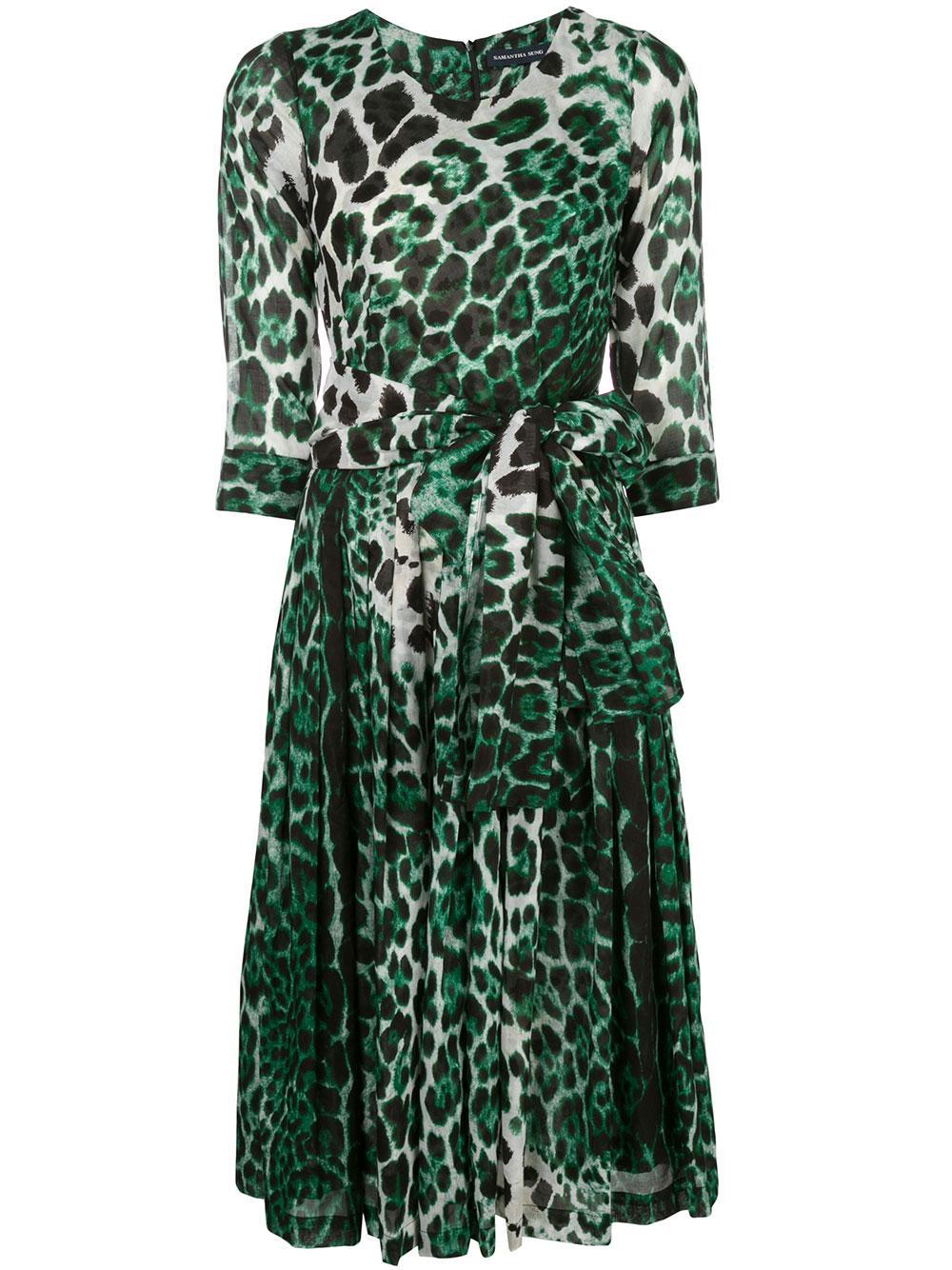 Florane Crew Neck 3/4 Sleeve Dress