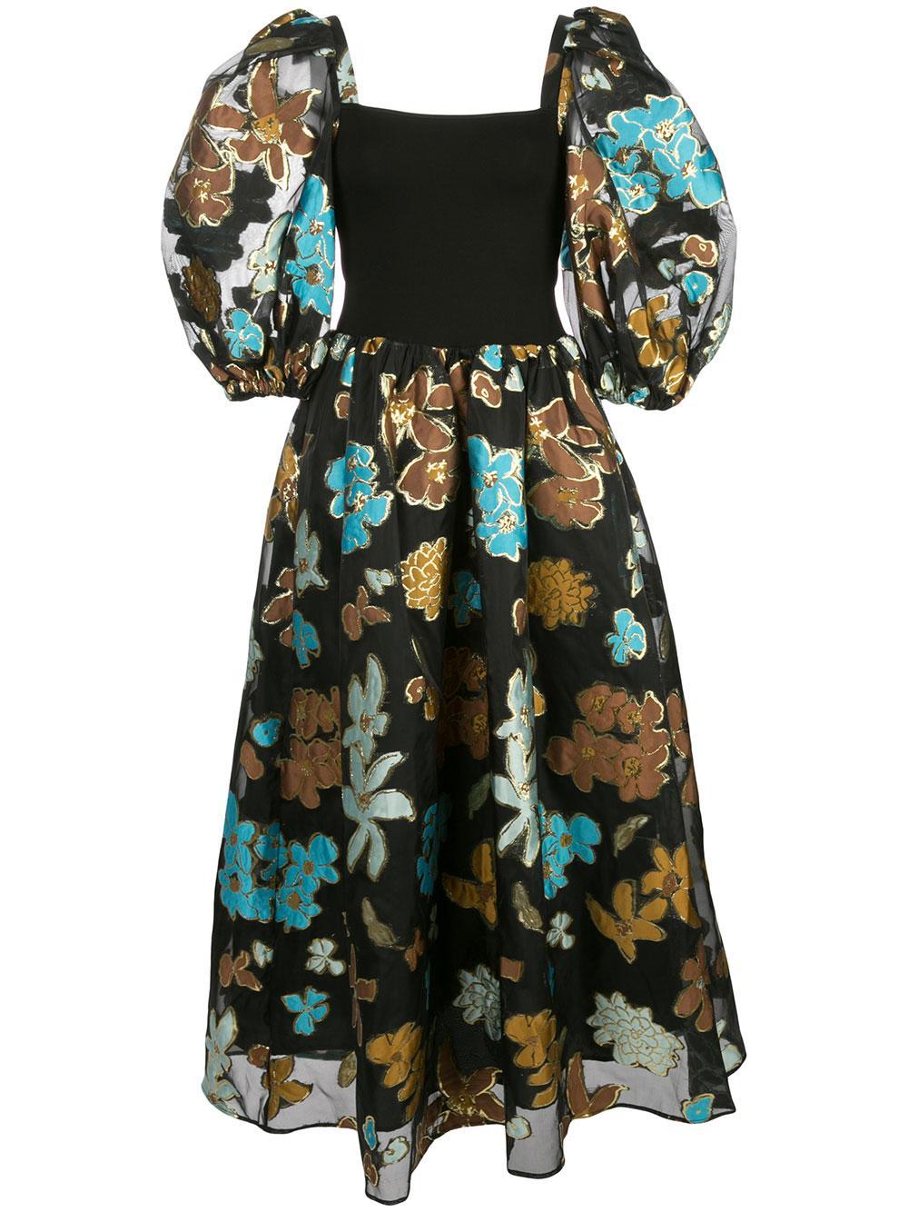 Monika Organza Midi Dress