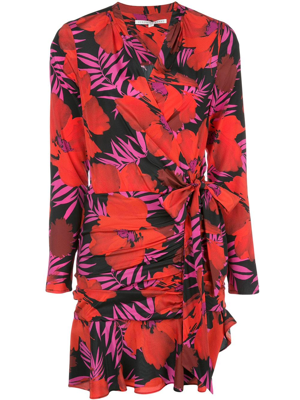 Lorina Long Sleeve Palm Print Dress Item # 1910SDC032745