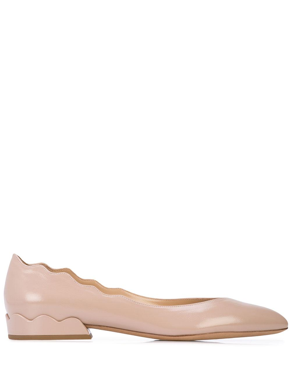 Laurena Semi Shiny Scalloped Flat