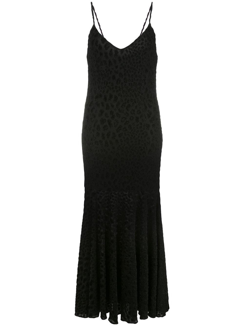 Kai Cut Velvet Animal Print Slip Maxi Dress