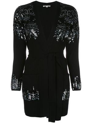 Ribbed Sequin Cardigan