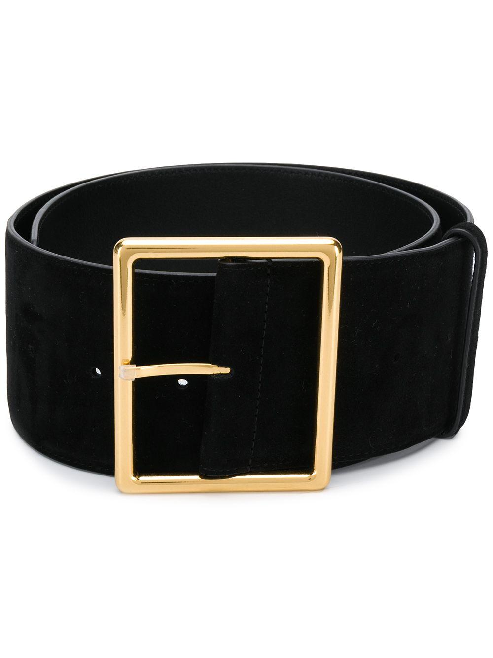 Wide Leather Suede Belt Item # 592860C200J