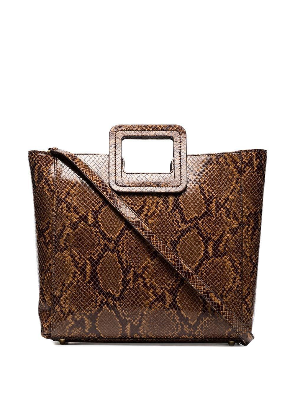 Shirley Bag Caramel Faux Snake Item # 159-9042