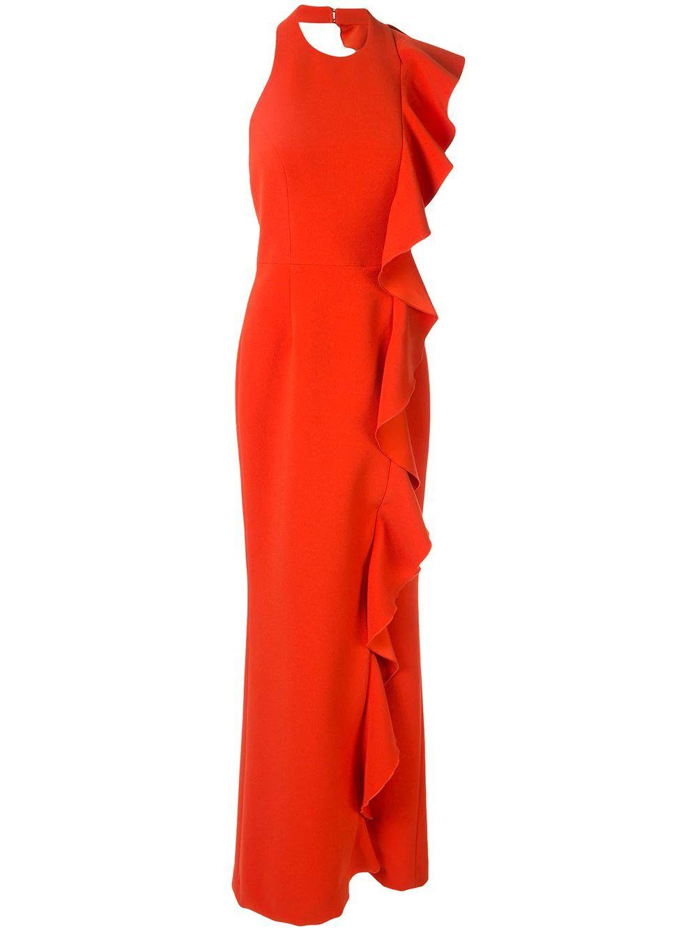 Galerie Side Ruffle Gown Item # 1904-1562