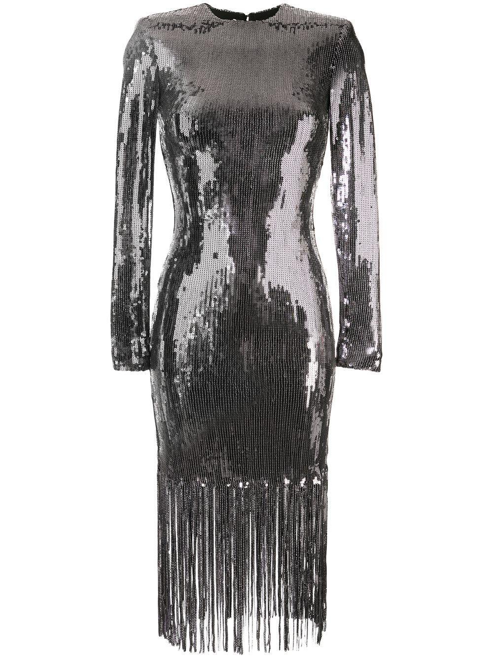Matisse Sequin Fringe Midi Dress Item # 1904-1589