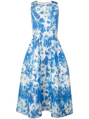 Sleeve Less Aline Knee Length Floral Dress