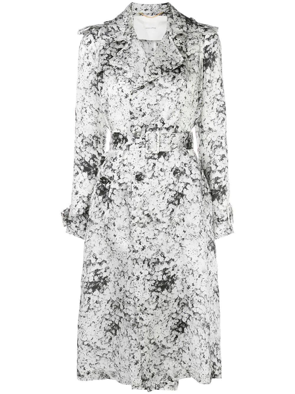 Baby's Breath Printed Trench