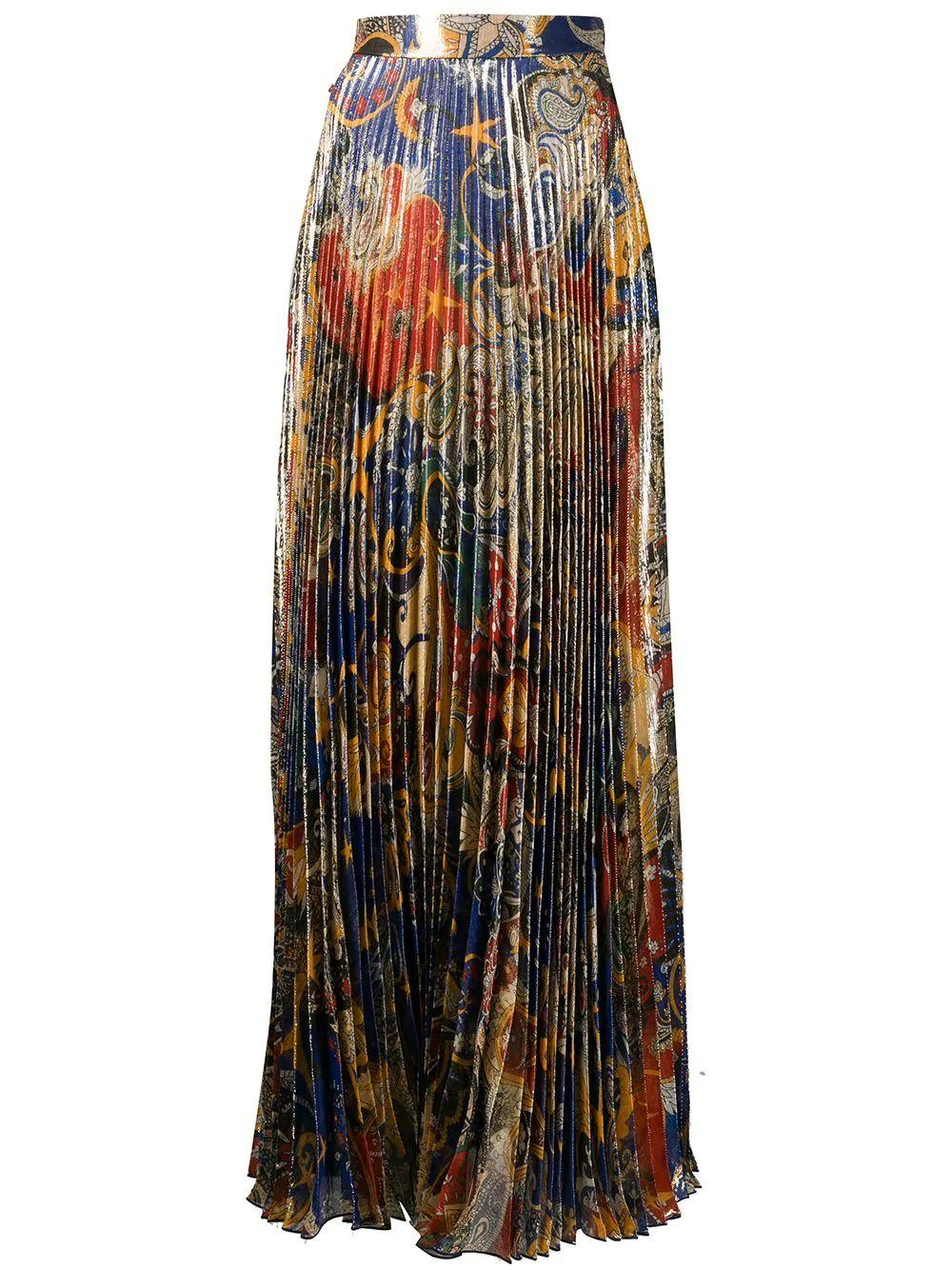 Long Printed Skirt With Side Slit