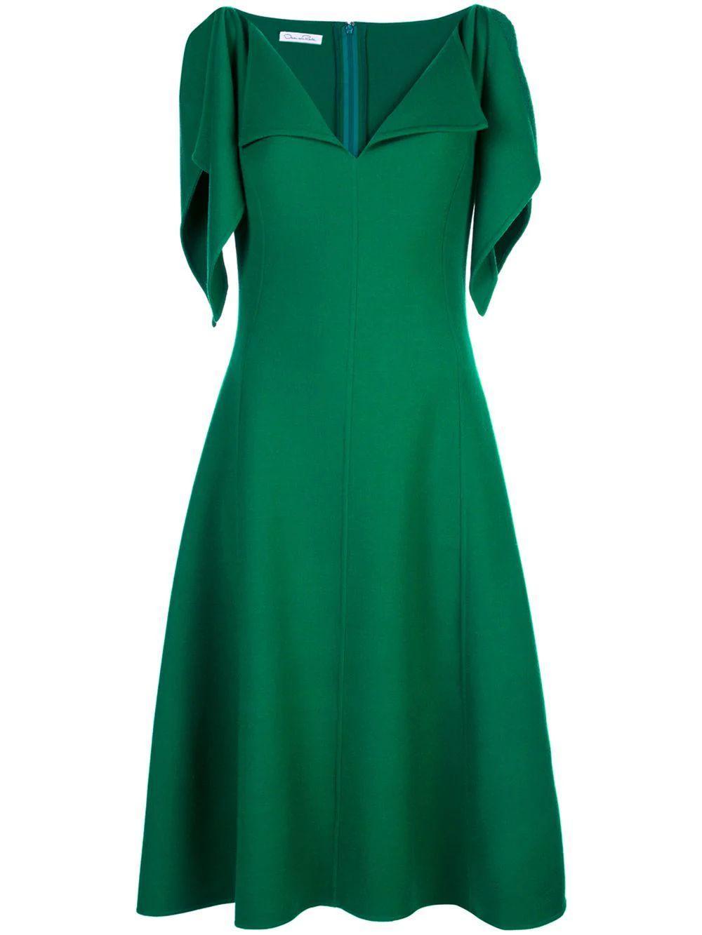 Shoulder Tie Dress W/Open Neck Item # 19PN257SWA