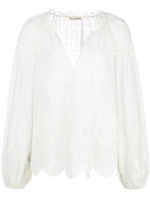 Harper Victorian Embroidered Long Sleeved Top