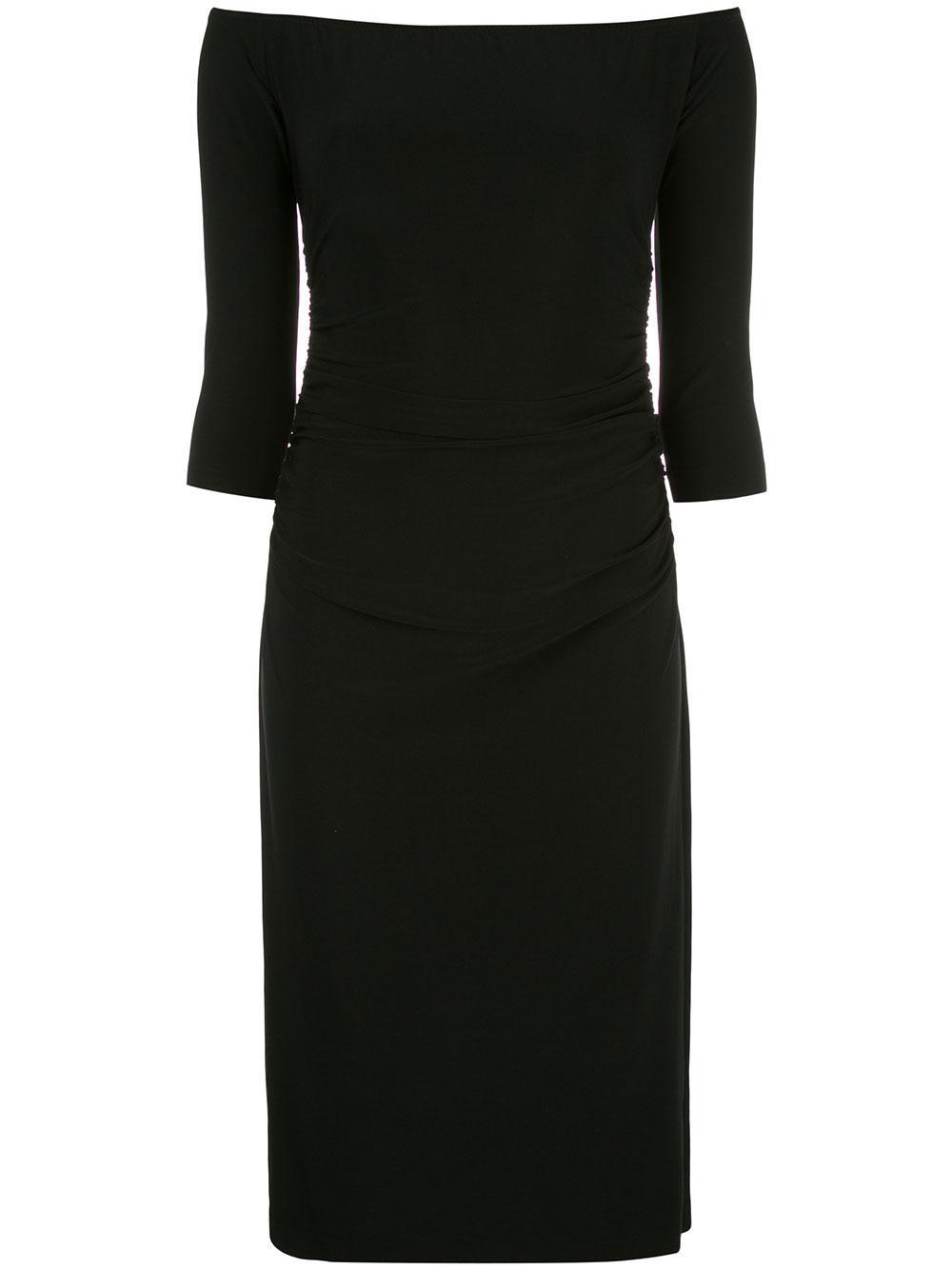 Off The Shoulder Shirred Waist Dress Item # KK1273PL133001