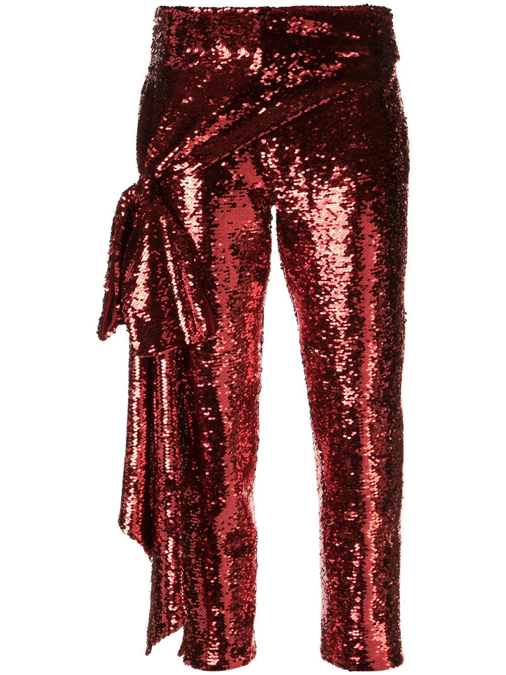 Sequin Pant With Side Tie