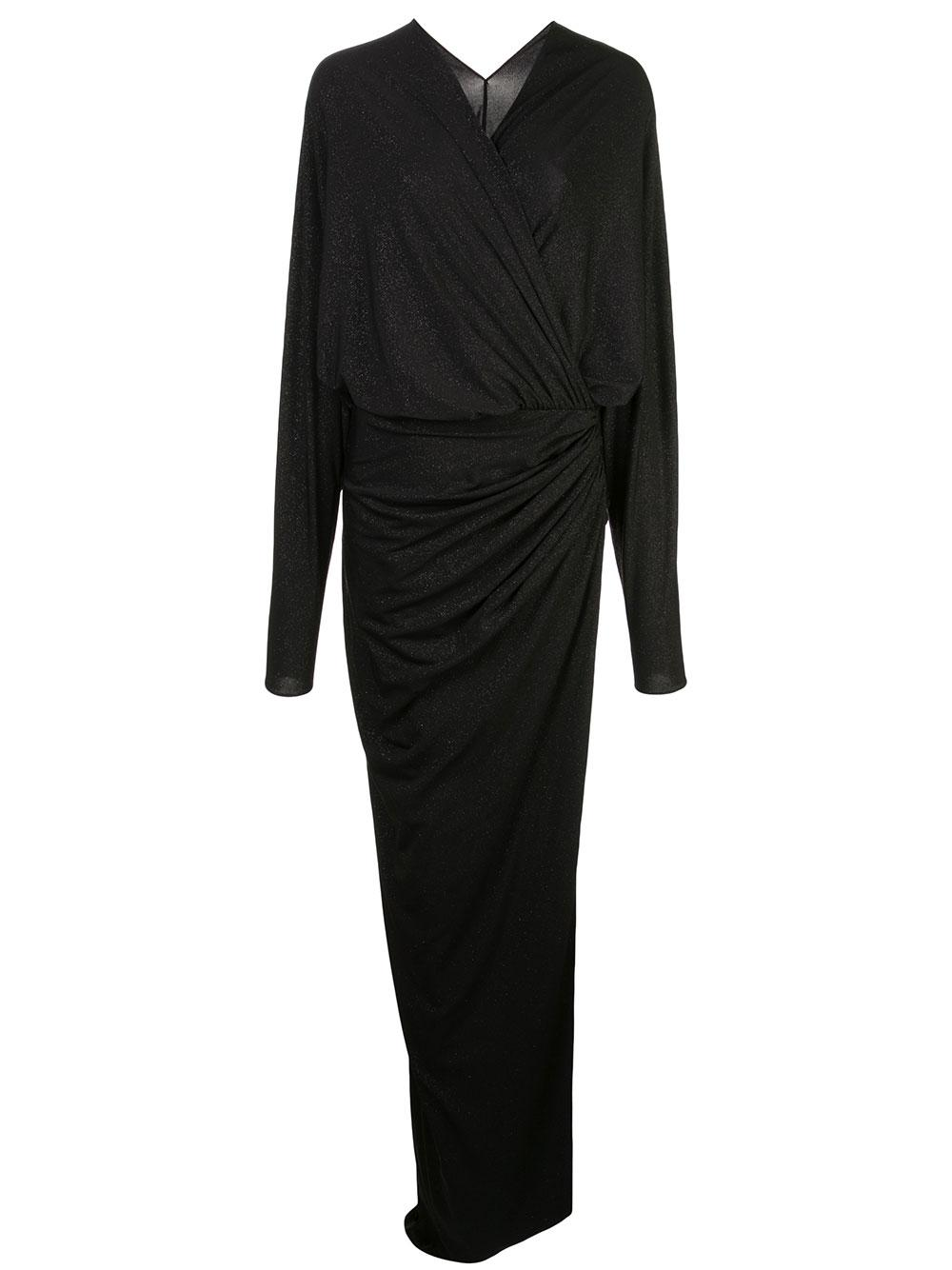 Long Sleeve Ruched Wrap Dress Item # 20101DLGGLT