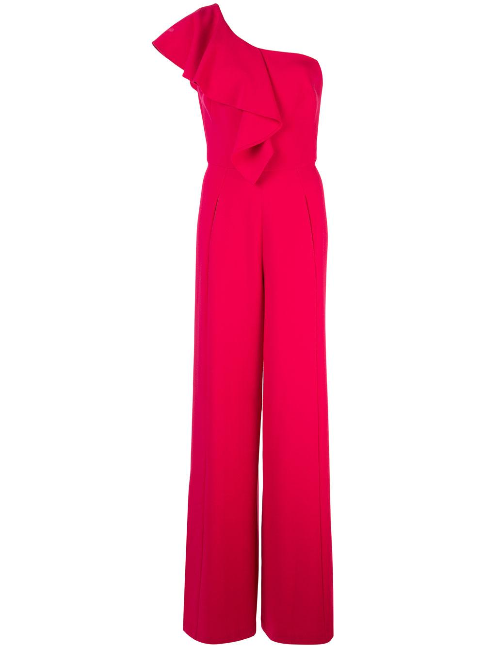 Kallan One Shoulder Ruffle Jumpsuit Item # 3591267-F19