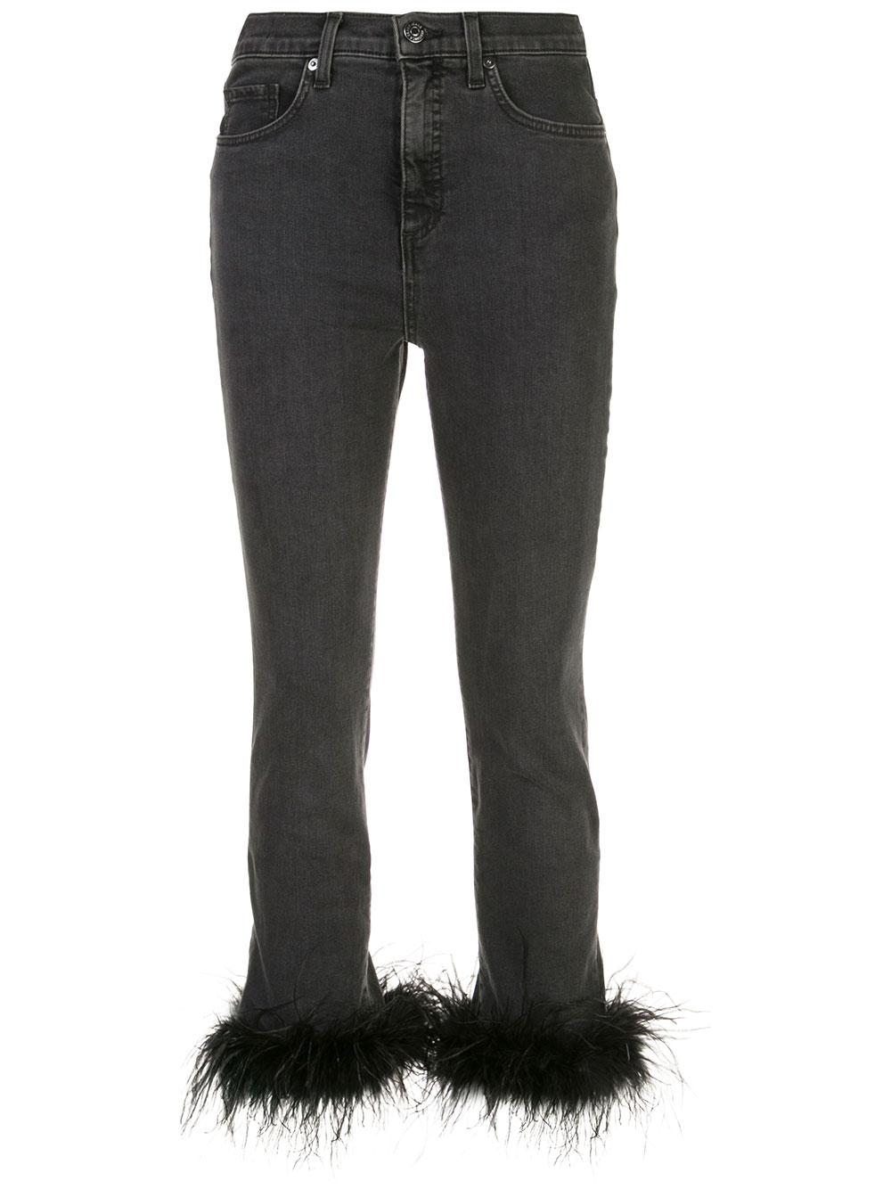 Kareena High Rise Skinny With Feather He