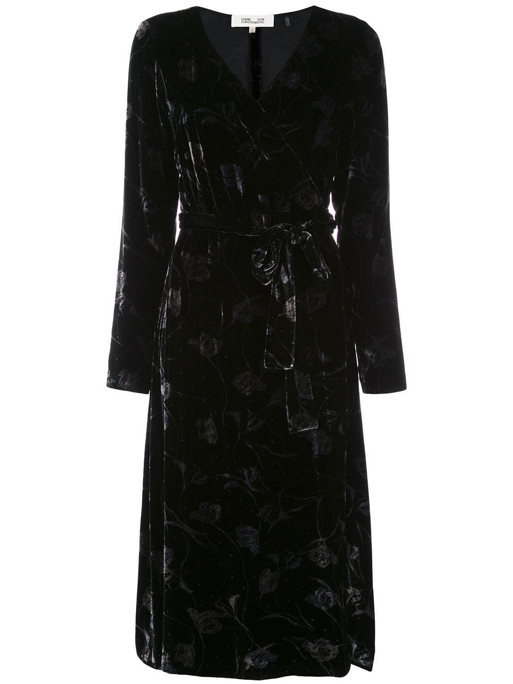 Till Velvet Wrap Dress Item # 13421DVF