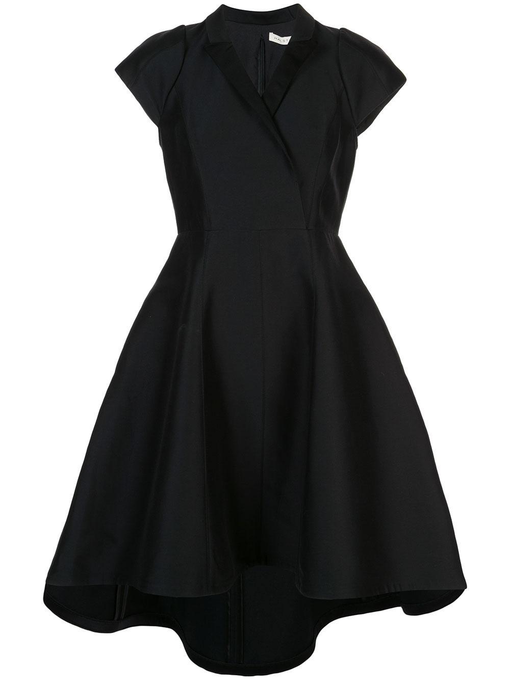 Tuxedo Silk Faille Dress