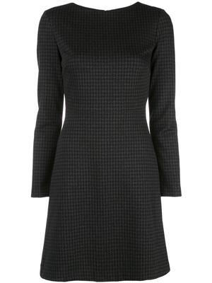 Kamilina Houndstooth Long Sleeve Dress