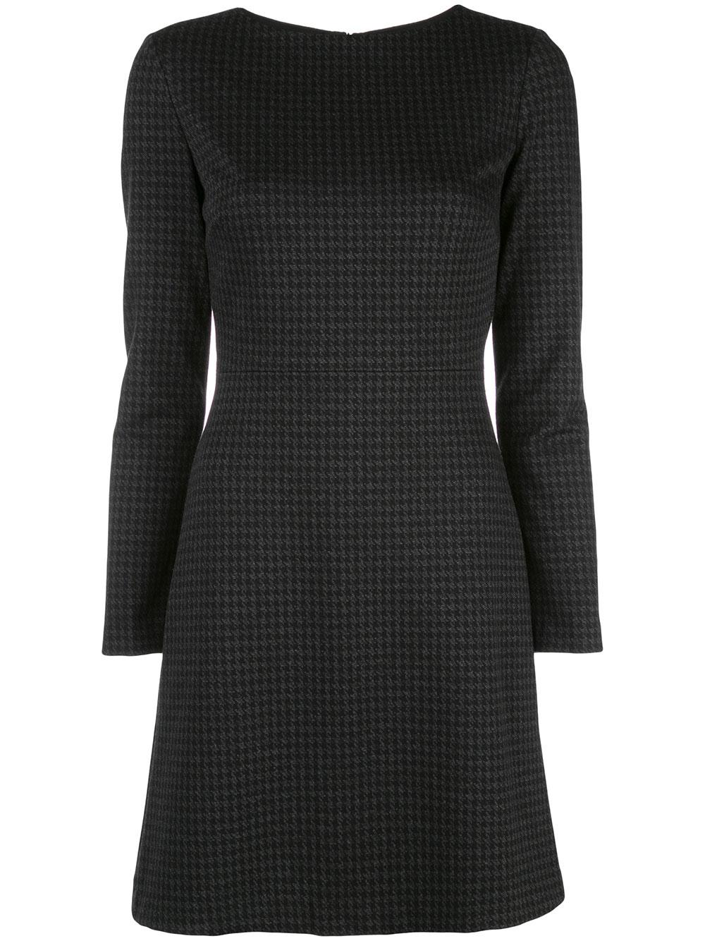 Kamilina Houndstooth Long Sleeve Dress