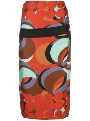 Multi Wrap Print Skirt