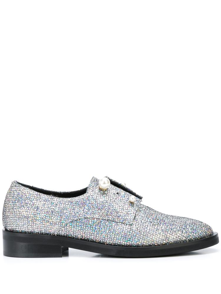 Cry Embellished 10mm Loafers With Pearl Detail
