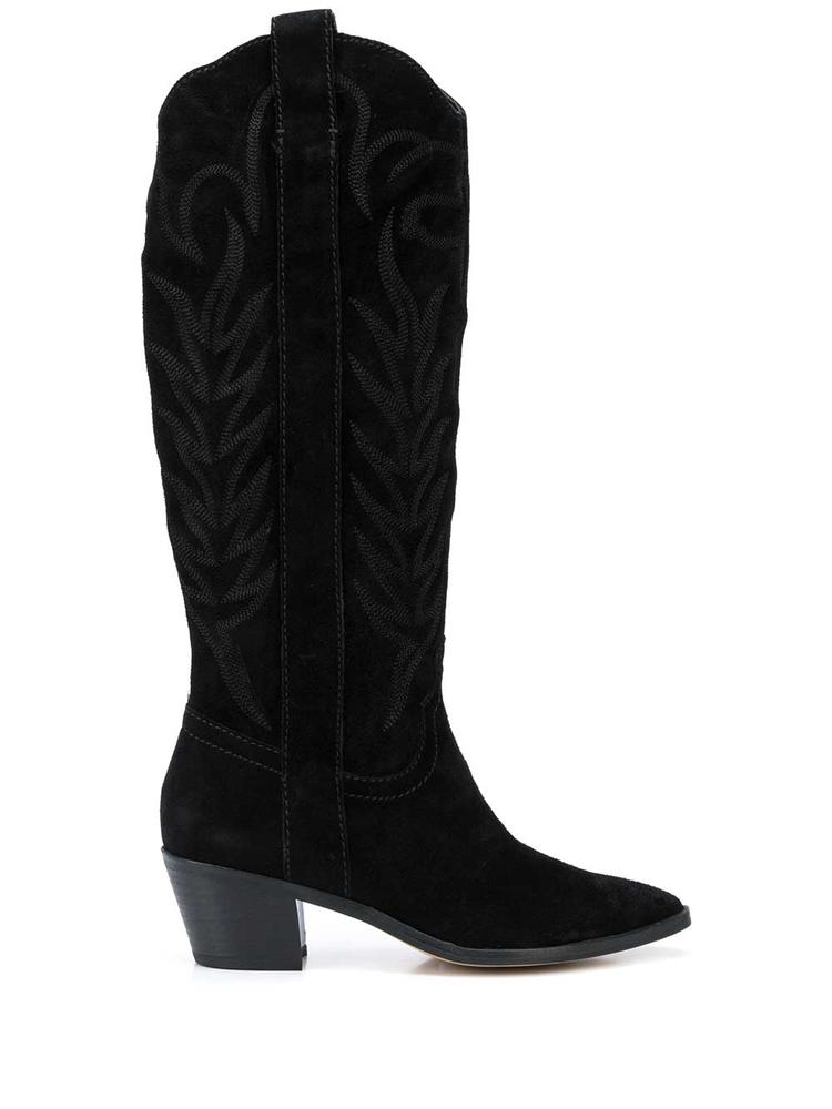 Tall Suede Western Boot