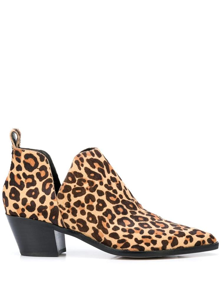 Pointed Toe Calf Hair Leopard Bootie