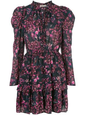 Prissa Floral Print Long Sleeve Dress