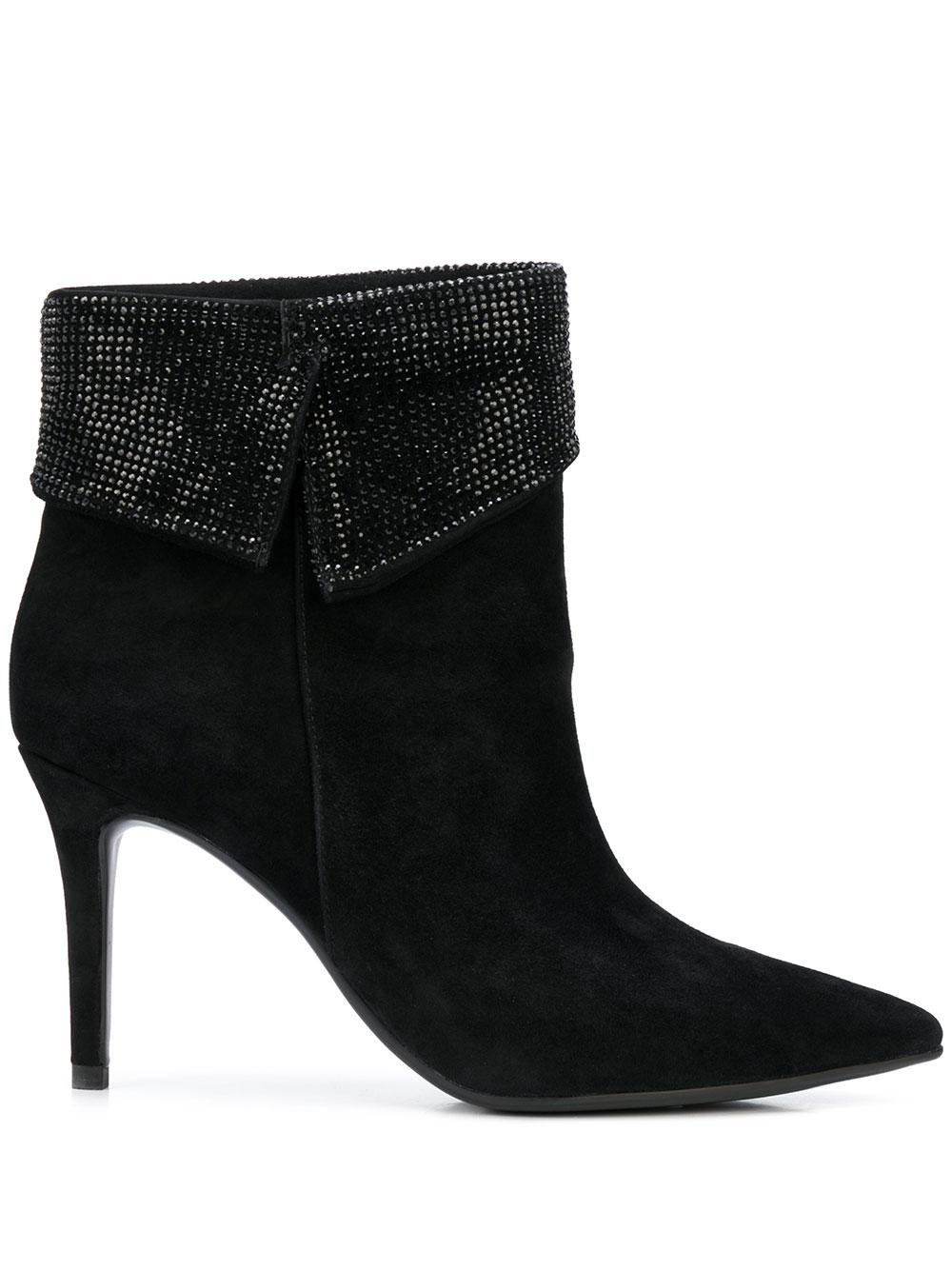 Pointed Toe Bootie With Glitter Fold