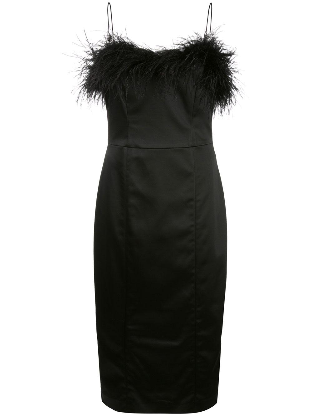 Lilya Sheath Dress With Feathers Item # 1910NV0092793