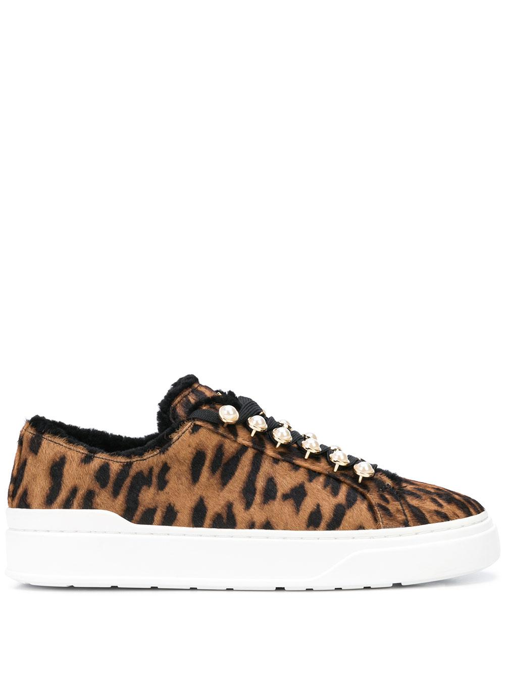 Leopard 30mm Lace Up Sneaker