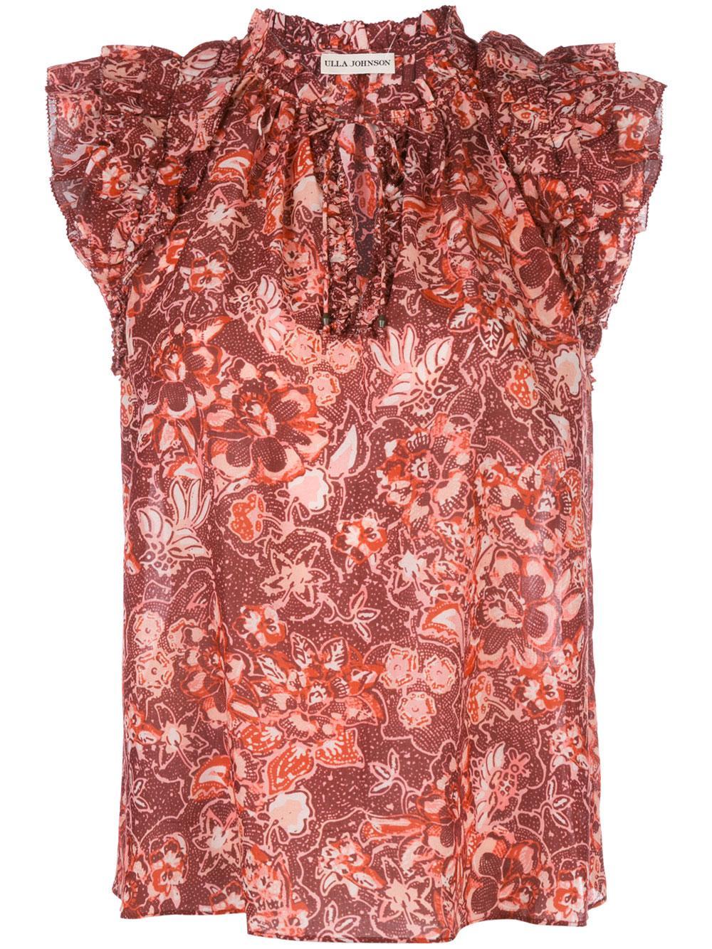 Rina Floral Sleeve Less Top Item # HO190208
