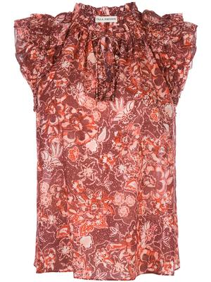 Rina Floral Sleeve Less Top