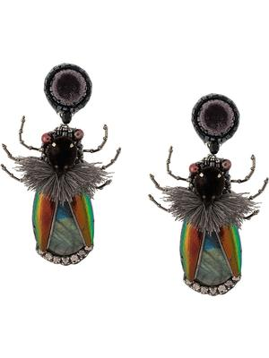 Hathor Beetle Drop Earrings
