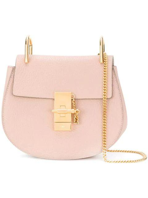 Drew Mini Grained Leather Shoulder Bag