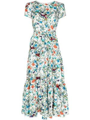 Short Sleeve Twill Tiger Lilly Long Dress