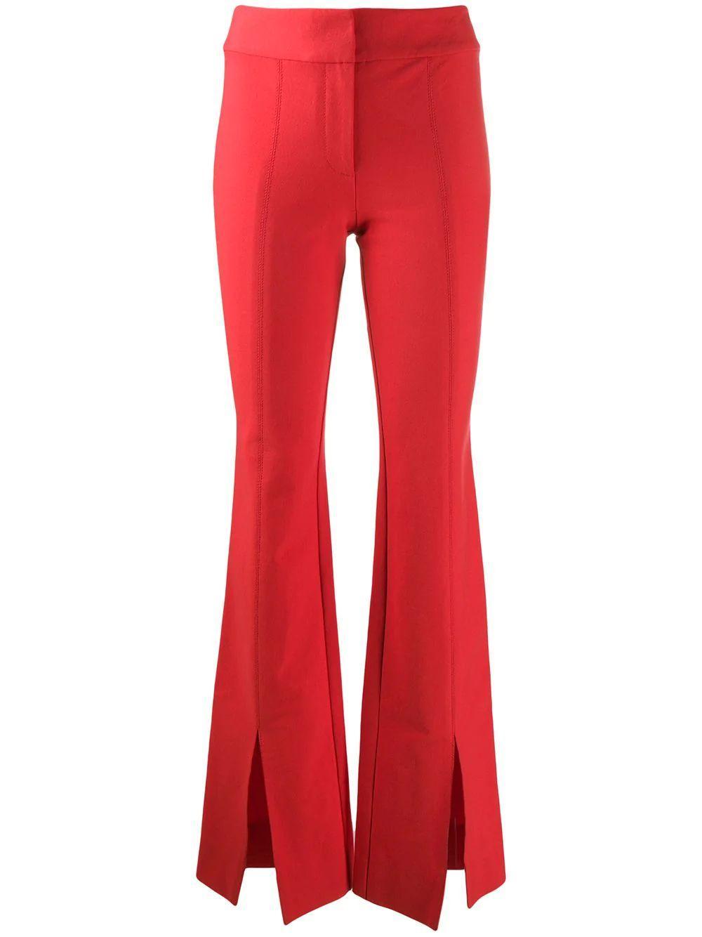 Maeve Slit Hem Flare Trouser Item # TR01117CR