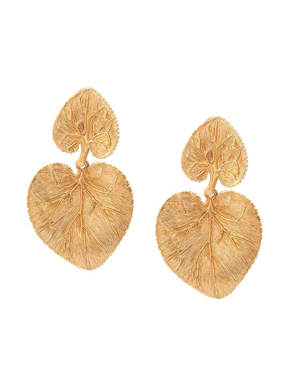Eucalyptus Leaf Clip Earring