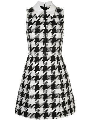 Ellis Zip Front Tweed Collared Dress