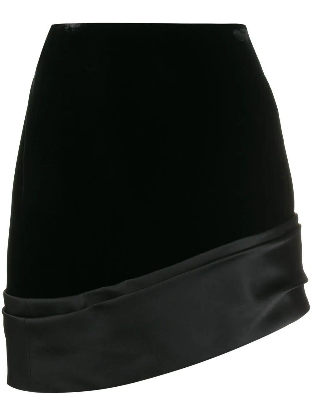 Velvet Skirt With Satin Band