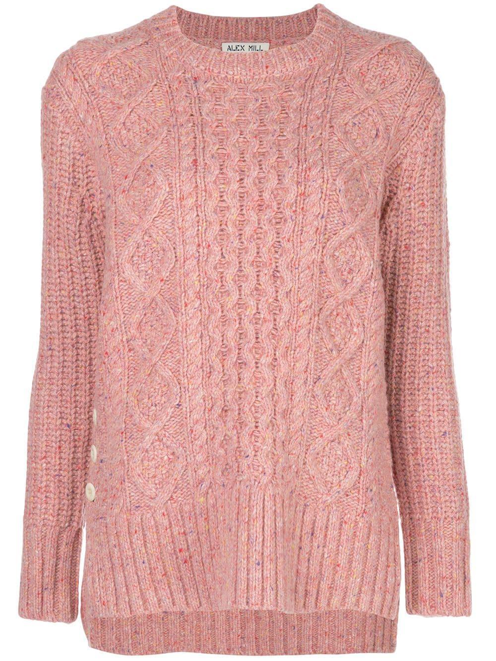 Button Side Aran Sweater Item # WW312032