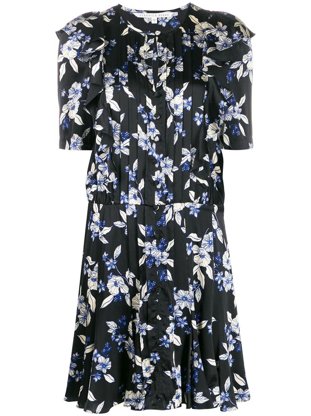 Camille Short Sleeve Floral Print Dress