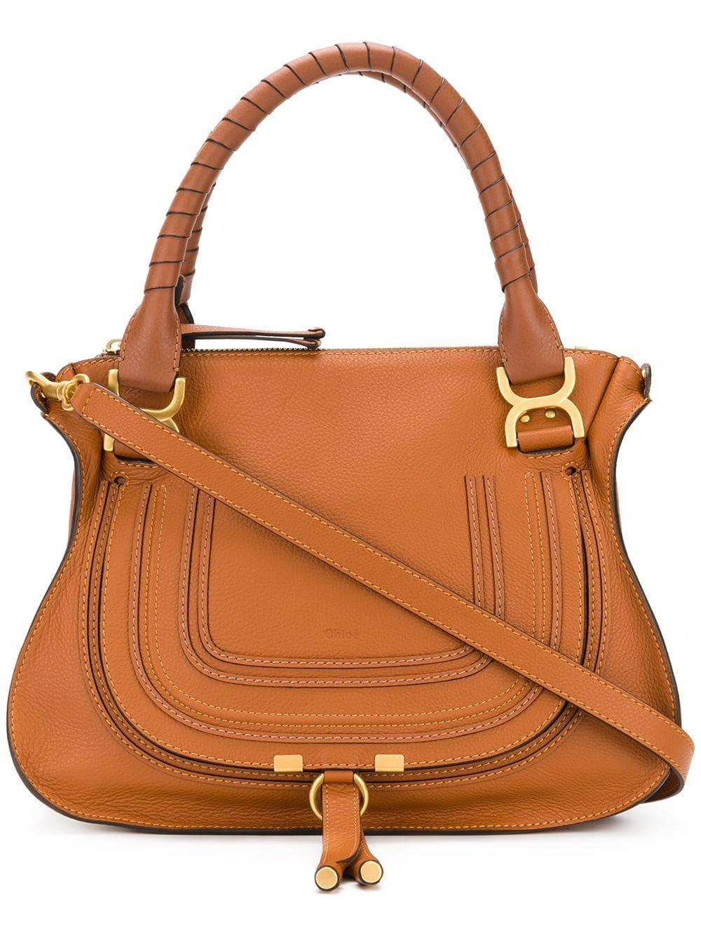 Marcie Medium Double Carry Grained Leather