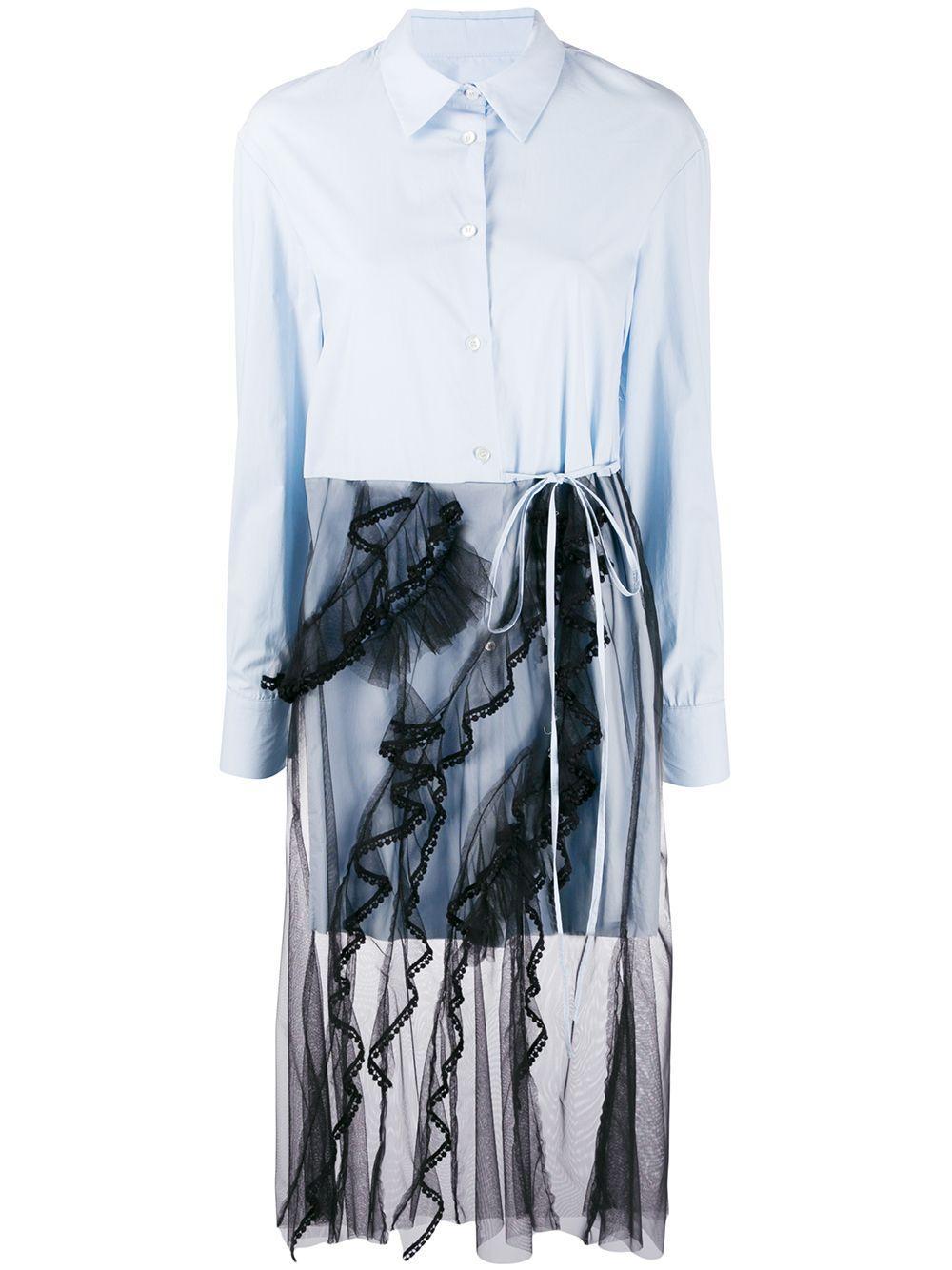 Long Sleeve Poplin Top With Tulle Skirt Item # FWT1906