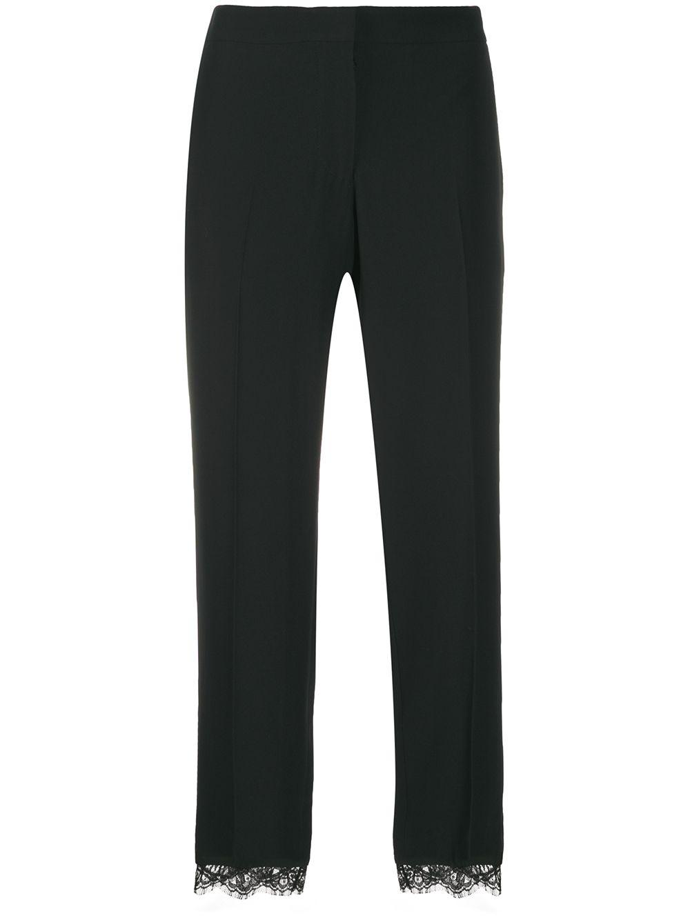 Crepe Trouser With Lace Detail