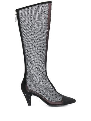 FLOR Mesh/Crystal Tall Boot