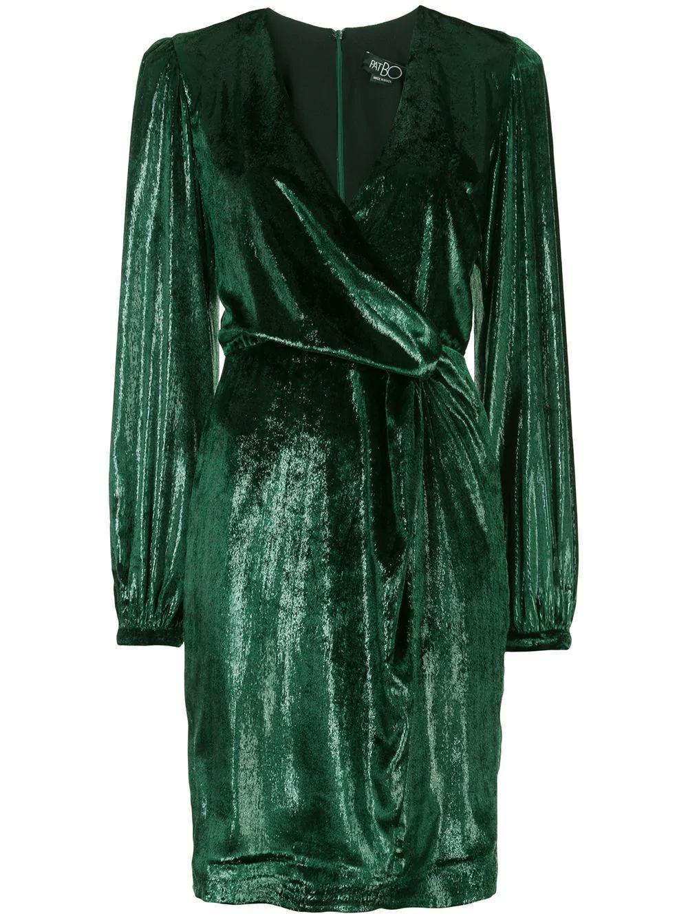 Liquid Velvet V Neck Dress Item # VES2198CUS
